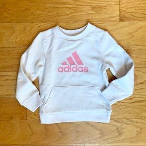 Like new! Adidas White Sweatshirt